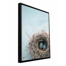 'Blue Nest' by Elena Ray Graphic Art Gallery-Wrapped on Canvas