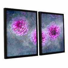Beauty In Purple by David Kyle 2 Piece Floater Framed Photographic Print on Canvas Set