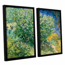 Lilacs by Vincent Van Gogh 2 Piece Floater Framed Painting Print on Canvas