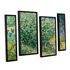 Lilacs by Vincent Van Gogh 4 Piece Floater Framed Canvas Staggered Set