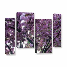 Spring Flowers by Dan Wilson 4 Piece Gallery-Wrapped Canvas Staggered Set