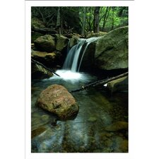 'Waterfall in the Woods' by Kathy Yates Canvas Poster