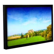Italian Castle by Dragos Dumitrascu Floater Framed Photographic Print on Wrapped Canvas