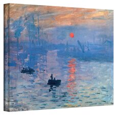 'Sunrise' by Claude Monet Painting Print on Canvas