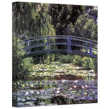 'Bridge at Sea Rose Pond' by Claude Monet Painting Print on Wrapped Canvas