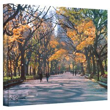 ''Central Park'' by George Zucconi Painting Print on Wrapped Canvas