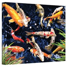 """Koi"" by George Zucconi Painting Print on Canvas"