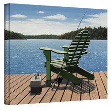 Fishing Chair by Ken Kirsch Photographic Print on Canvas