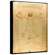 """Vitruvian Man"" by Leonardo Da Vinci Painting Print on Canvas"