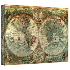 Treasure Map Graphic Art on Canvas