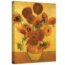 """Vase with Fifteen Sunflowers"" by Vincent Van Gogh Painting Print on Canvas"