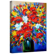 'Happy Floral' by Susi Franco Painting Print on Canvas