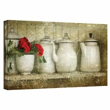 """Flower with Pots"" by David Liam Kyle Graphic Art on Canvas"
