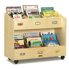 Mobile 6 Section Book Cart