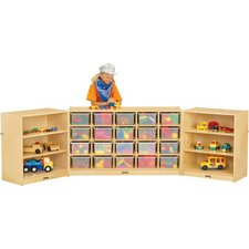 Triple Fold-n-Lock 26 Compartment Cubby