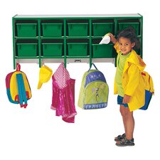 Rainbow Accents® 2 Tier 5 Wide Wall Hanging Coat Locker
