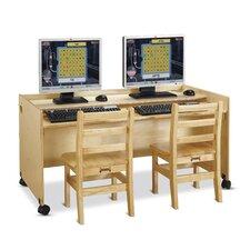 """Enterprise Double 24"""" Computer Desk"""