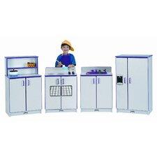 Rainbow Accents® 4 Piece Play Kitchen Set