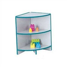 "KYDZ Curves 24"" H Rainbow Accents Corner Bookcase"