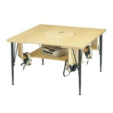 "Blanca 38.5"" Square Classroom Table"