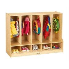 KYDZ 1 Tier 5-Sections Toddler Coat Locker