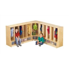 KYDZ 1 Tier 1-Section Corner Toddler Coat Locker