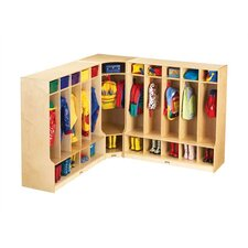 KYDZ 1 Tier 1-Section Corner Coat Locker