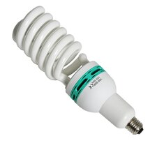 125W (5500K) Continuous Fluorescent Full Spectrum Light Bulb and Adapter
