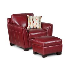 Midtown Leather Arm Chair and Ottoman