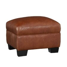 Midtown Leather Ottoman