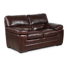 Biscayne Leather Loveseat