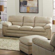 Biscayne Wheat Leather Sofa