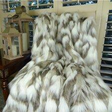 Tibet Fox Handmadee Faux Acrylic Blanket