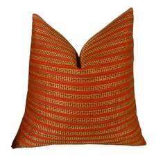 Tied Rows Throw Pillow - Double Sided