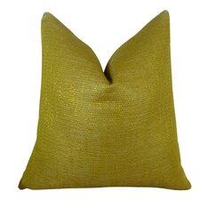 Lemon Curry Cotton Throw Pillow