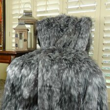 Wolf Faux Acrylic Blanket
