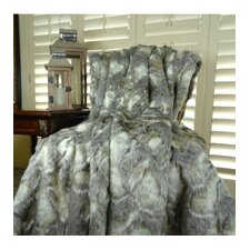 Rabbit Faux Fur Acrylic Blanket