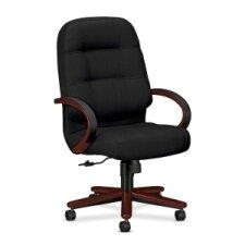 Pillow-Soft Wood Series Executive High-Back Chair, Mahogany
