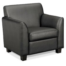 Basyx Tailored Leather Lounge Chair