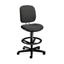 ComforTask Height Adjustable Task Stool with Footring