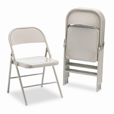 All-Steel Folding Chairs (Set of 4)