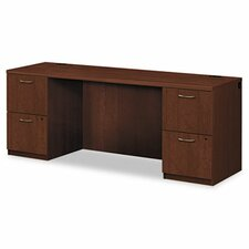 Park Avenue Computer Desk with 2 Right & 2 Left Drawers