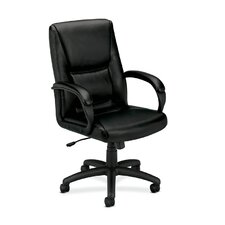 Basyx High-Back Leather Executive Chair