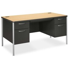 Mentor Series Computer Desk with Double Pedestal