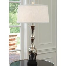 """Bamboos Esque 41.5"""" H Table Lamp with Drum Shade"""