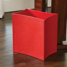 Folded Leather Basket