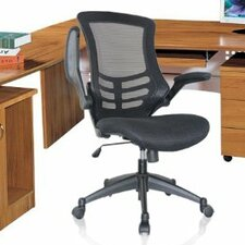 High-Back Mesh Conference Chair with Wheels