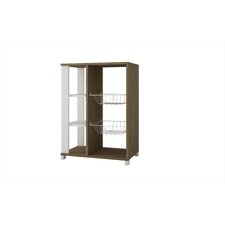 Accentuations Useful Pasir Pantry Rack with 4 Shelves and 2 Racks in Oak and White