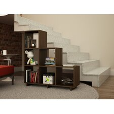 Cascavel Accentuations Sophisticated Stair Cubby with 6 Cube Shelves