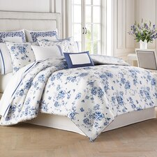 China Blue 4 Piece Comforter Set